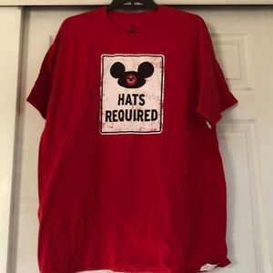 Men's Disney XXL Hats Required Mouse Ears shirt
